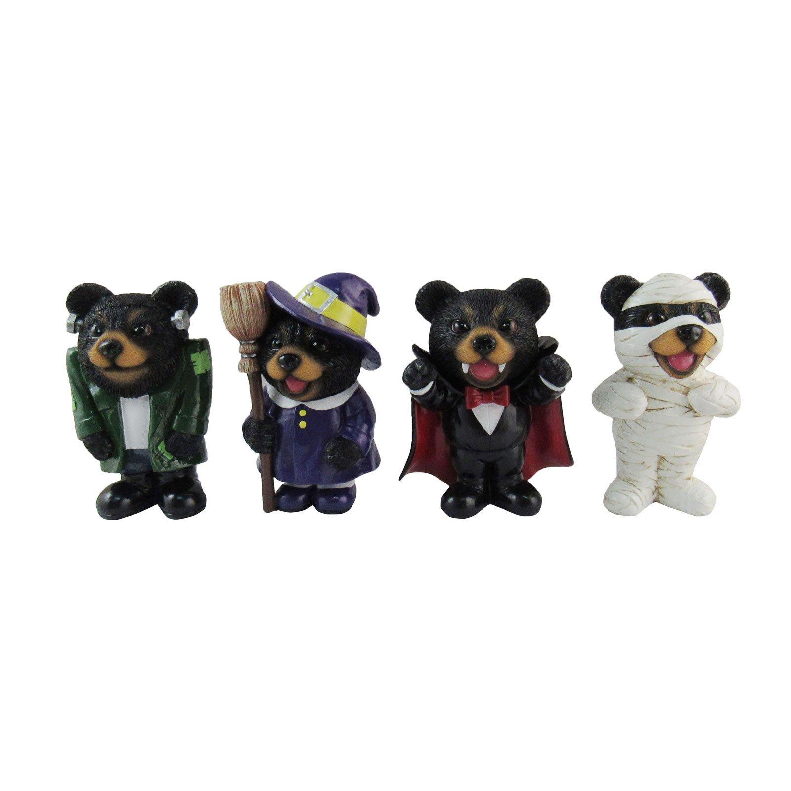 DWK Set of 4 Halloween Costume Bear Figurines