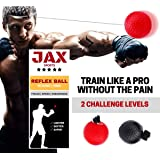 JAX Sports Boxing Reflex Ball Kit Maximize Endurance And Build Focus And Speed While Punching. Light And Portable To Train Anywhere Or Quick Workout At School, Office, And Home. 100% Safe For Any Age.