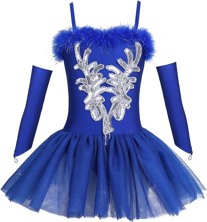 Amazon.com: TiaoBug - Maillot de ballet con cuentas de ...