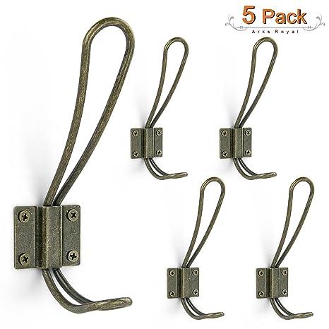 Amazon.com: Ganchos de alambre de metal vintage con doble ...