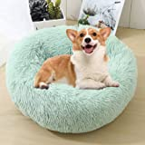 Calming Bed for Dogs, Donut Cuddler Dog Bed Small Medium Large Orthopedic Pet Bed Self Warming Round Fluffy Plush Pillow…