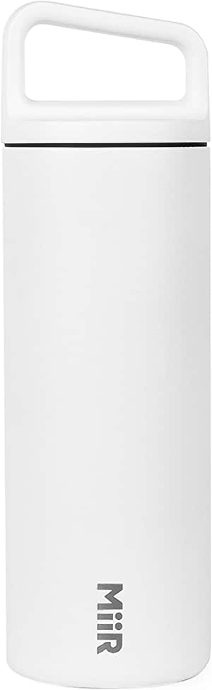 MiiR Insulated Wide Mouth Bottle with Leak-Proof Screw Top Lid - 16oz - White