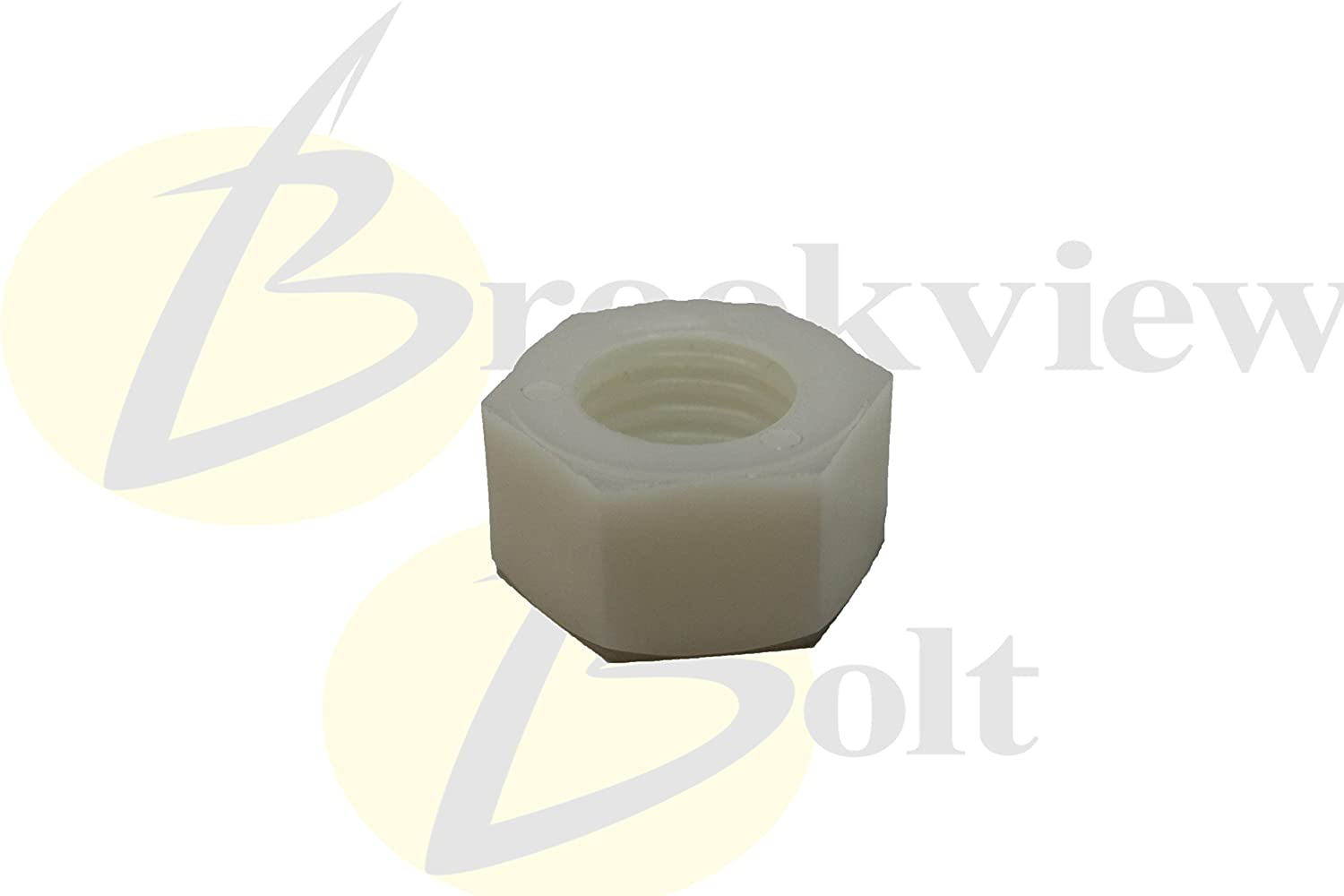 3//8-16 Thread Size Small Parts 37CNFHN Hex Nut Pack of 50 Nylon