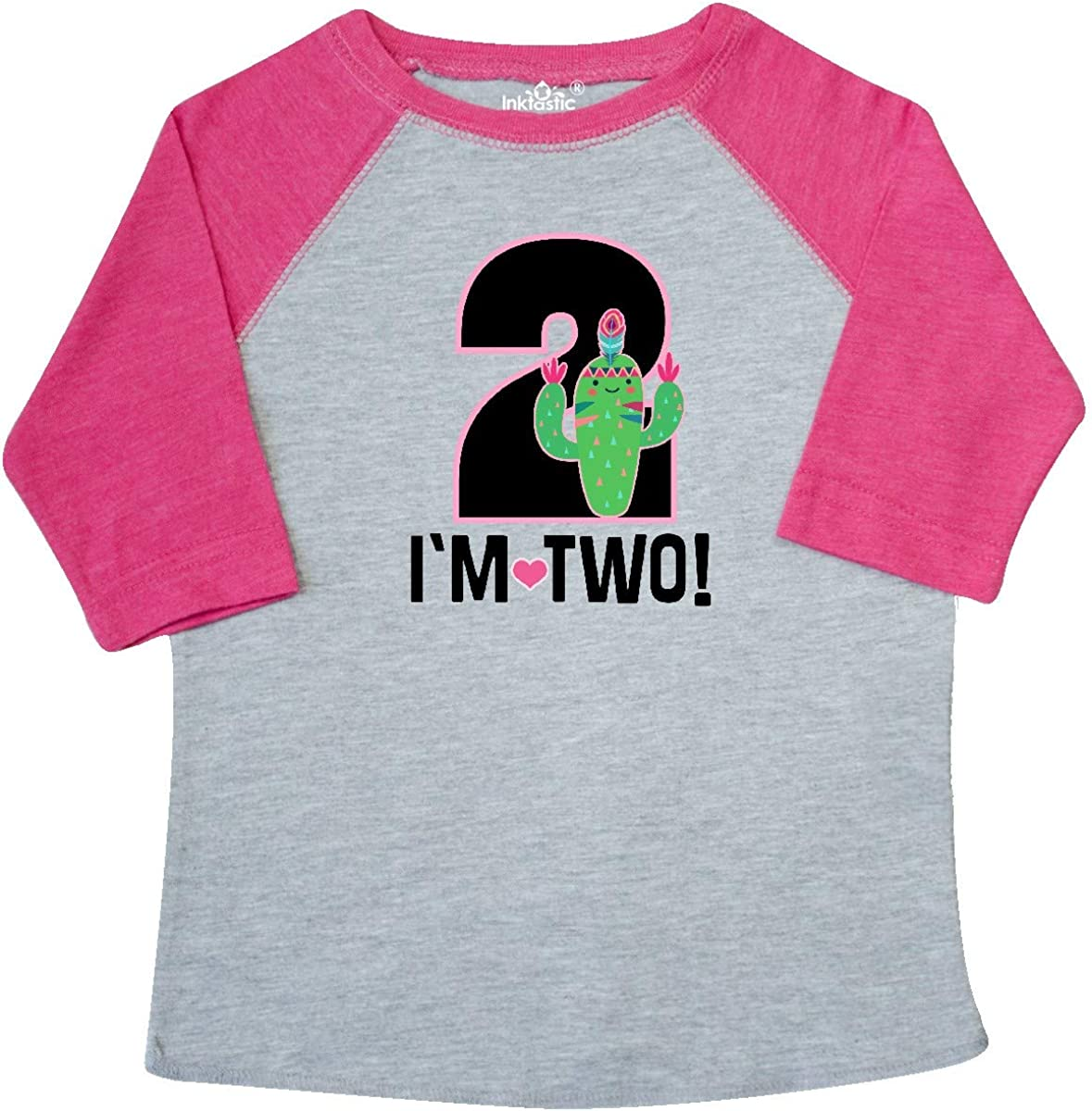 inktastic 2nd Birthday Cactus Tribal for 2 Year Old Toddler T-Shirt