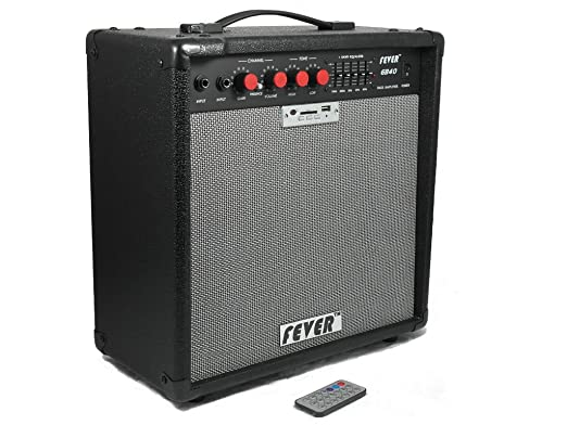 Amazon.com: Fever GB40 40 Watts Bass Combo Amplifier with USB and SD Audio Interface with Remote Control: Musical Instruments