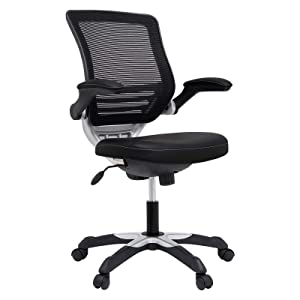 Modway Edge Mesh Back and White Vinyl Seat Office Chair