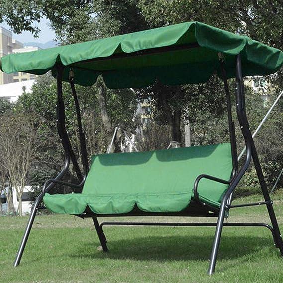 Toldo de Repuesto, Cojín de Asiento Giratorio, Tela Impermeable Al Aire Libre Patio Cojín de jardín Columpio Cojín Asiento Hamaca, 150x150x10cm(Verde): Amazon.es: Hogar