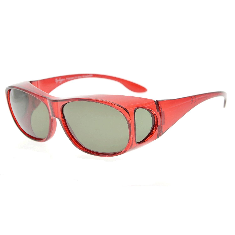 Eyekepper Gafas de sol polarizadas estilo retro fitover para anteojos recetados (Negro/Gris Lentes): Amazon.es: Ropa y accesorios