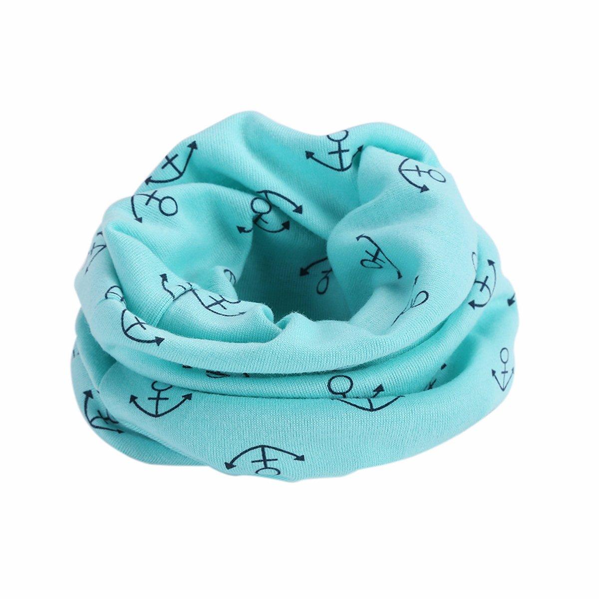 Butterme Winter Baby Girls Boys Cotton Neckerchief Warm Cute O Ring Neck Scarves Shawl Neck Warmer(Navy#2) ZUMUii ZUMU00005647