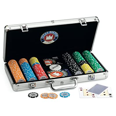 Juego Pro Team 300 - Maletín de Poker I Poker Set I Poker Incluye Cartas de Poker Texas Hold'em, 300 fichas, Dealer y Timer - Aluminio: Juguetes y juegos