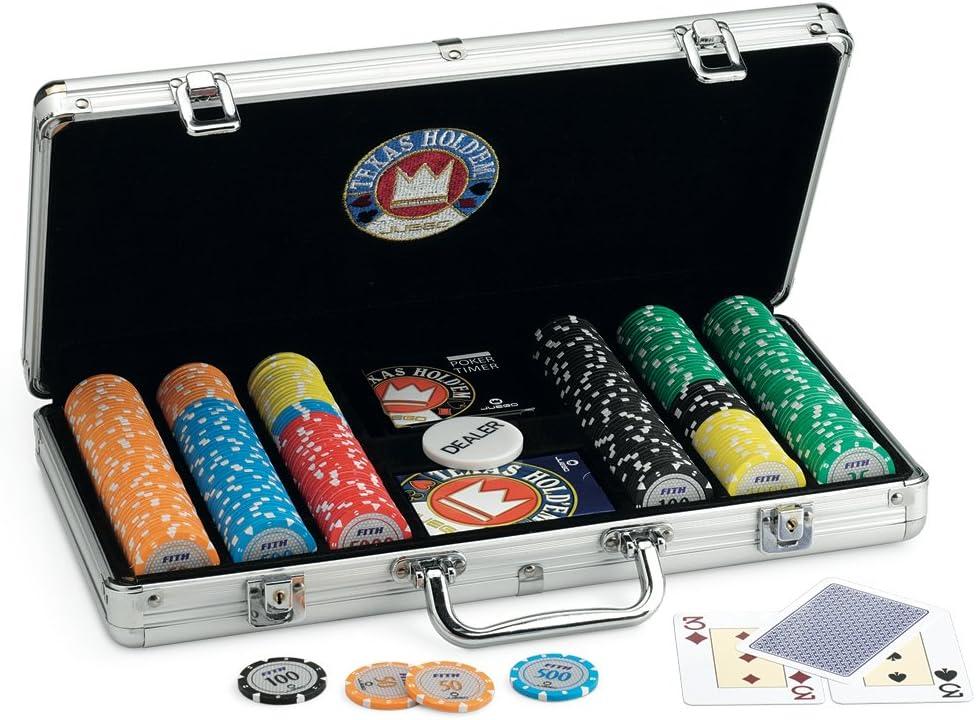 Juego Pro Team 300 - Maletín de Poker I Poker Set I Poker Incluye Cartas de Poker Texas Holdem, 300 fichas, Dealer y Timer - Aluminio: Amazon.es: Juguetes y juegos