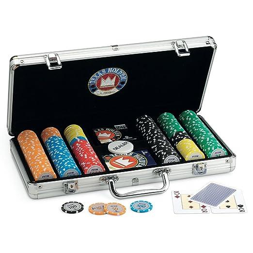 20 opinioni per Juego JU00379- Poker Pro Team 300, Valigetta in Alluminio con fiches/pezzi