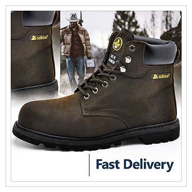 Amazon.com: Hangwucha - Botas de trabajo para hombre ...