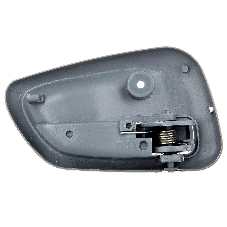 802491-5211-1124331 ECCPP Door Handles Interior Inside Inner Passenger Driver Side Front Rear for 1999 2000 2001 2002 2003 2004 Chevrolet Tracker Gray 4pcs
