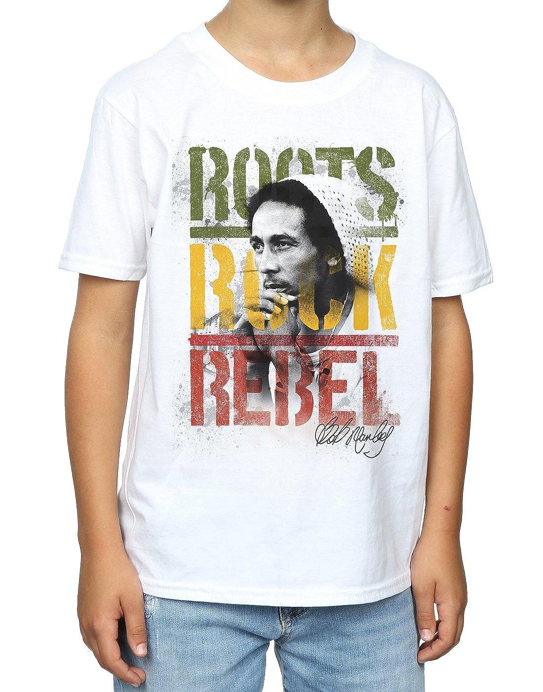 Amazon Bob Marley Boys Roots Rock Rebel T Shirt Clothing