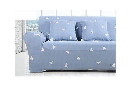 Amazon.com: No Buy No Bye Blue Floral Big Elastic Sofa Cover ...