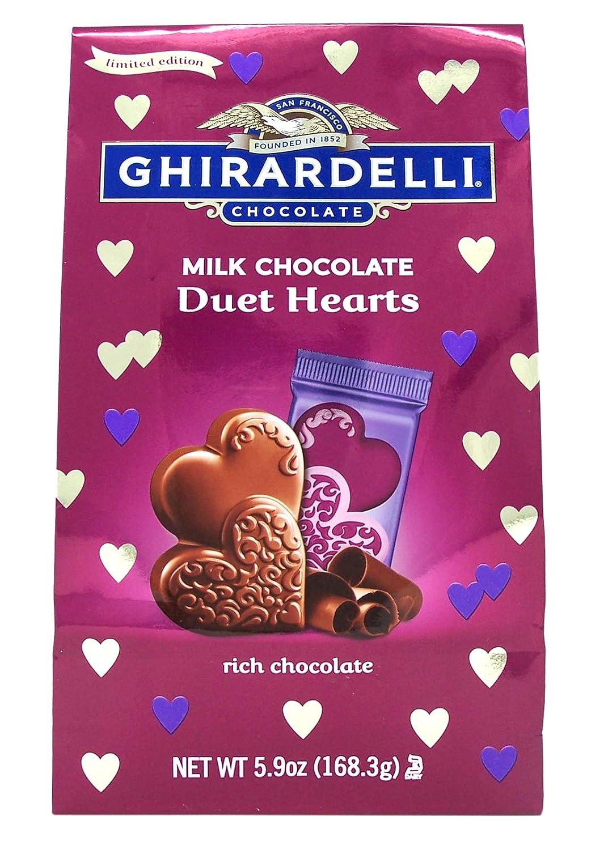 Ghirardelli Valentine's Day Milk Chocolate Duet Hearts Bag - 5.9oz