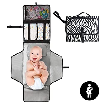 Waterproof Infant Nappy Changin Baby Portable Changing Pad Foldable Diaper Bag