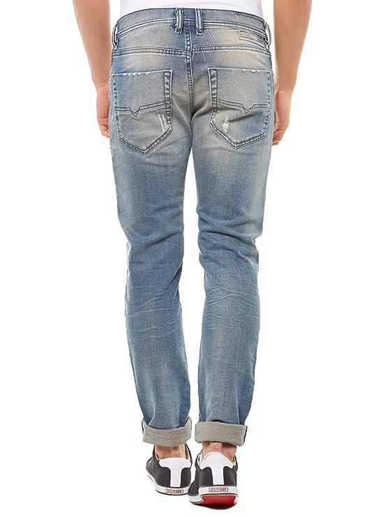 92aefd1e Diesel Men's Tepphar 0845F Slim Carrot Jeans, Blue: Amazon.co.uk: Clothing