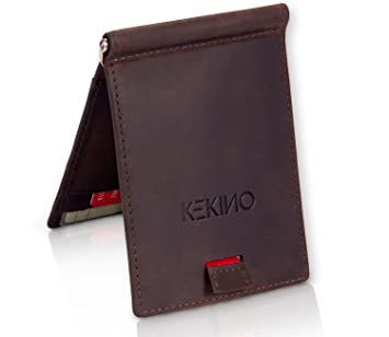 ab1fe74dff2fe KEKINO Kreditkartenetui mit Geldklammer aus Echtleder