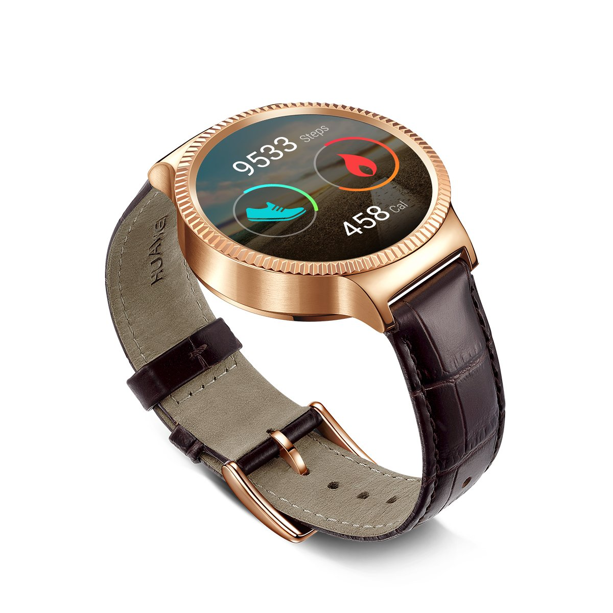 huawei smartwatch. amazon.com: huawei watch rose gold plated stainless steel with brown suture leather strap (u.s. warranty): cell phones \u0026 accessories smartwatch