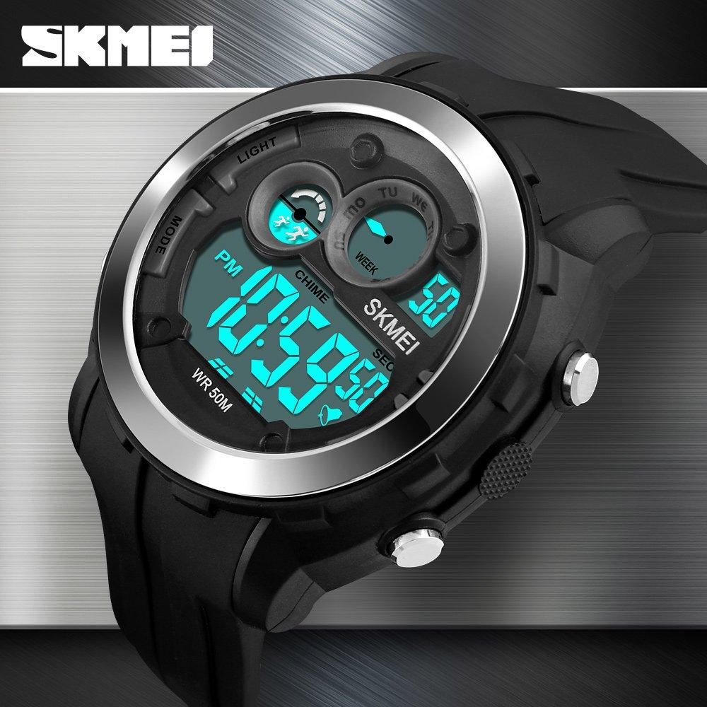 Buy Skmei Digital White Dial Mens Watch 1234 Online At Low Prices S Shock Sport Water Resistant 50m Dg1025 In India