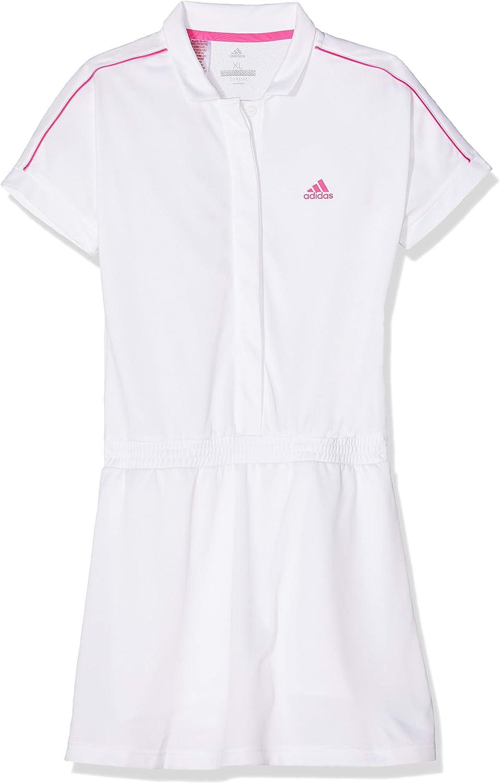 adidas Kinder Seasonal Kleid, weiß, Size 164: