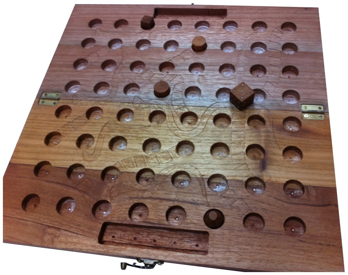 Braille Store Tactile Wooden Snakes and Ladders Game for Blind Kids by The Braille Store