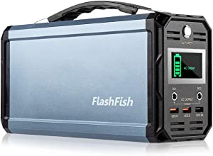 300W Solar Generator, FlashFish 60000mAh Portable Power Station