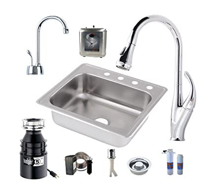 All-in-One Drop-In Stainless Steel 25 in. 4-Hole Single Bowl Kitchen on shower garbage disposal, dumping into garbage disposal, dining room garbage disposal, inside of a garbage disposal, proper installation of garbage disposal, kitchenaid garbage disposal, kenmore garbage disposal, kitchen garbage disposal repair, food garbage disposal, in sink erator garbage disposal, floor garbage disposal, bar sink garbage disposal, double sink with garbage disposal, home garbage disposal, disposal garbage disposal, kitchen garbage disposal units, whirlpool garbage disposal, commercial kitchen garbage disposal, magnetic garbage disposal, deep sink for garbage disposal,