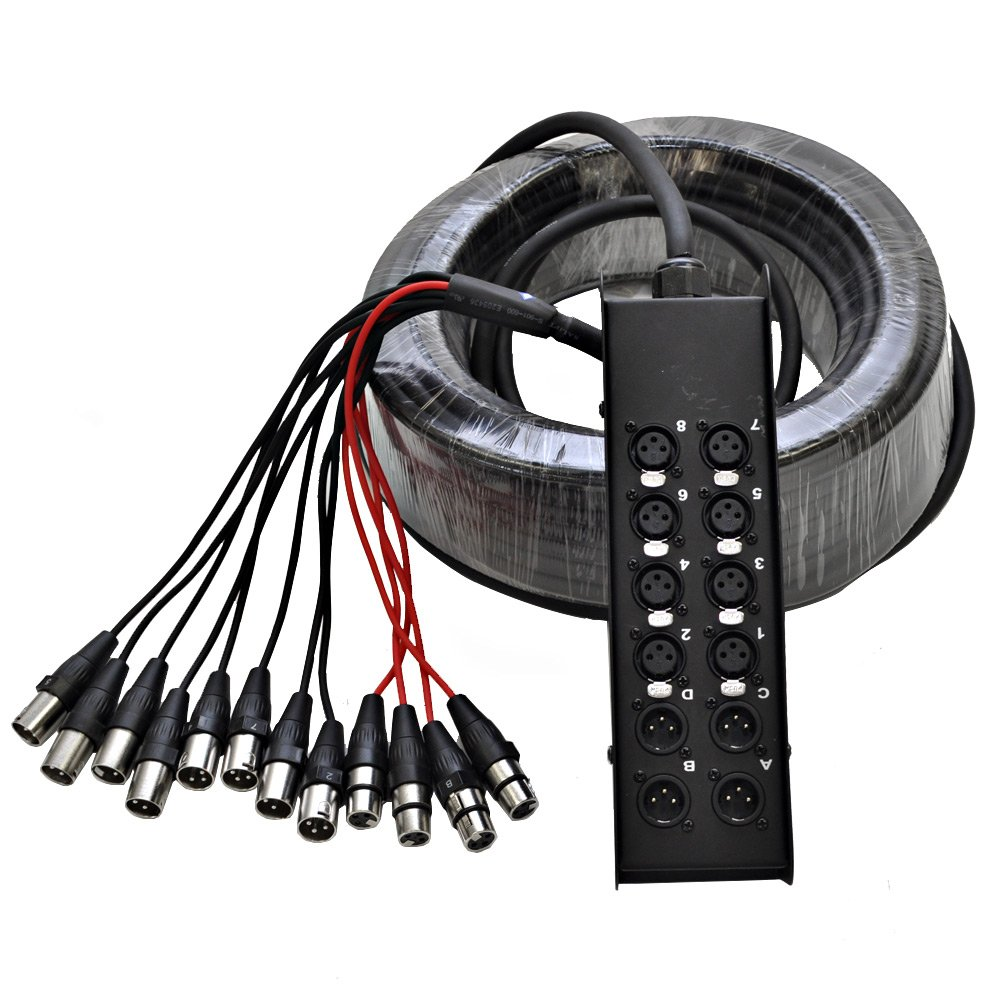 Seismic Audio SACB-8x4x100 8-Channel XLR Low Profile Circuit Board Snake Cable, 100-Feet by Seismic Audio (Image #1)