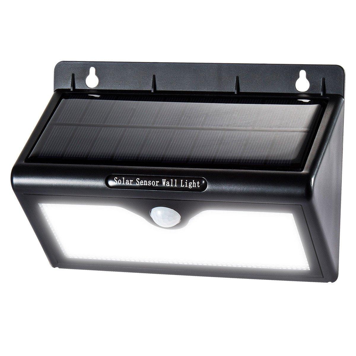 新作モデル KYC ソーラー B0711VVWTT 光 人感センサー 46 ソーラー LED KYC 屋外 防犯ライト2モード 超高輝度 防雨壁掛け式 屋外照明 [1個入] ホワイト1個入 B0711VVWTT, 八雲町:5d4ee500 --- arianechie.dominiotemporario.com