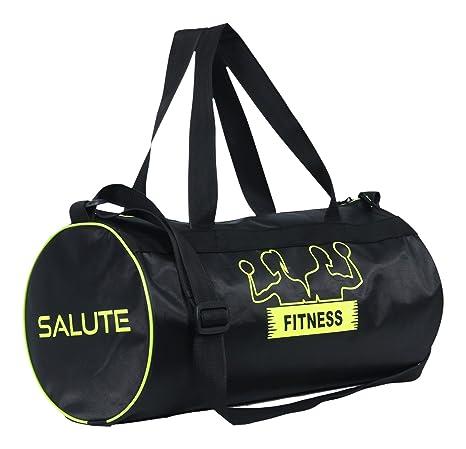 4f3eb8d308b0 SALUTE Polyester 22.5 Ltrs Black Duffel Bag  Amazon.in  Bags ...