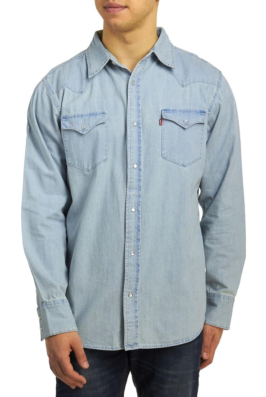 Levi de Hombre Barstow - Camisa de Vaquero (Nueva Era Bleach: Amazon.es: Ropa y accesorios