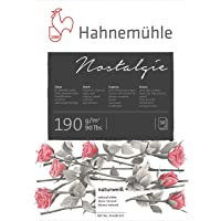 Nostalgie Sketch Pad 190 G/M2, Bloco de Desenho, Tam A4, 50 Fls, Hahnemuehle