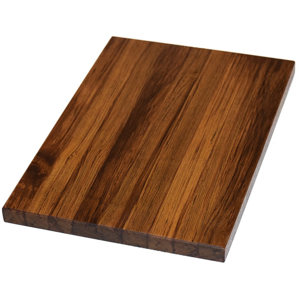 Teak Wood Edge Grain Cutting Board Handmade Reversible Butcher Block by The Practical Plankist (Image #1)
