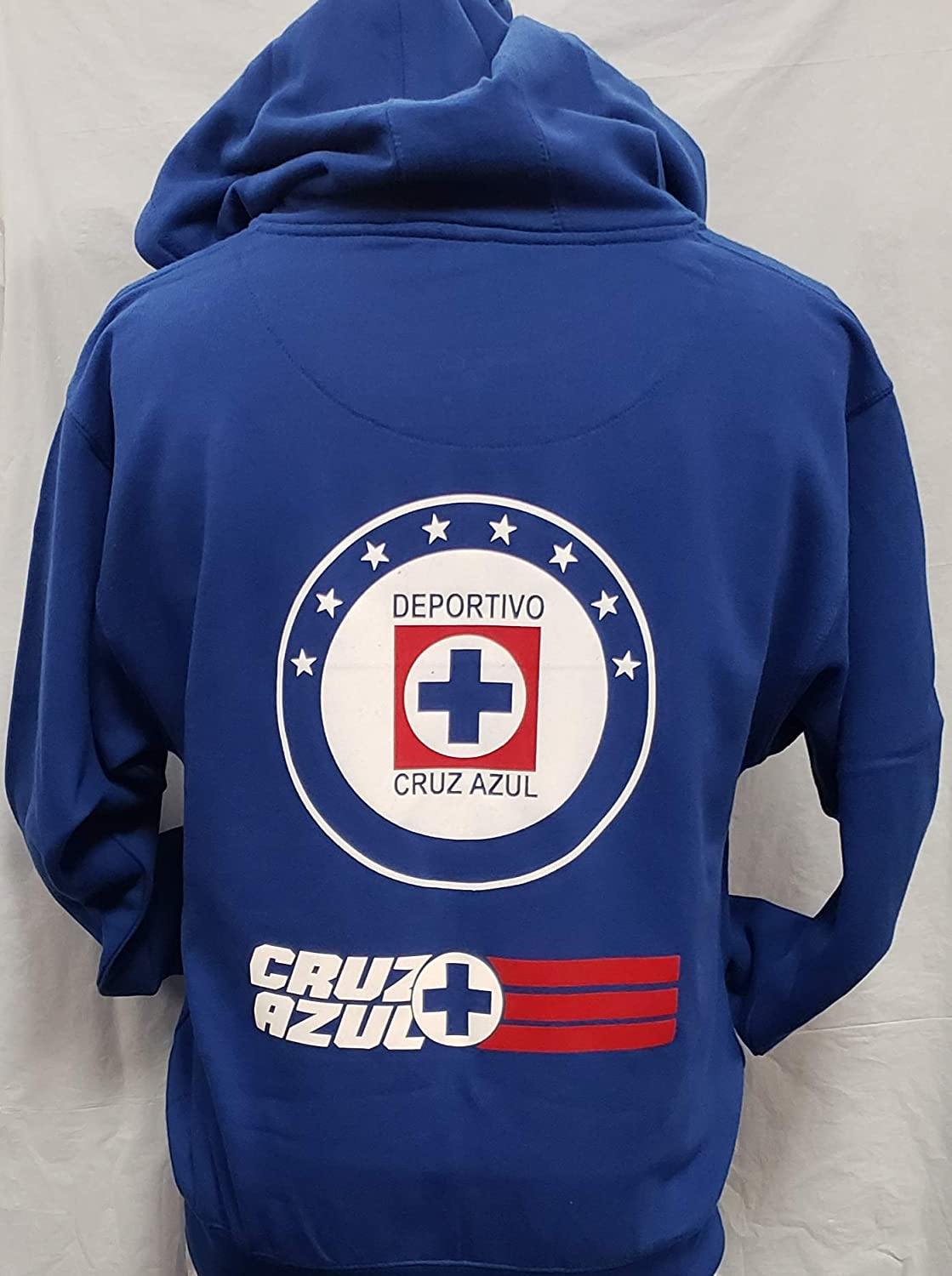 Club Deportivo Cruz Azul Zip Up Hoodie Sudadera con Gorro Liga MX Size S : Sports & Outdoors