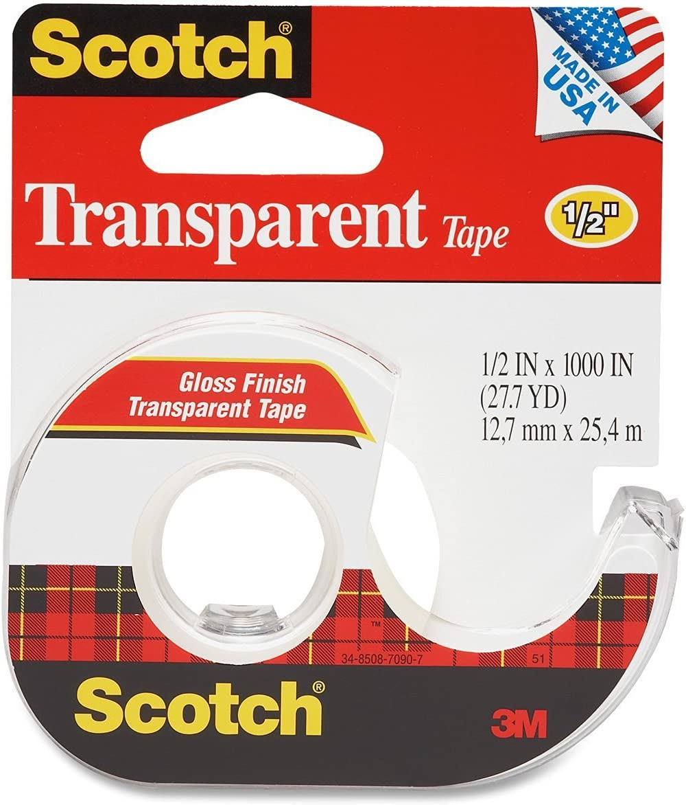 Pack of 2 Scotch Satin GiftWrap Tape 3//4 in x 650 Inches 1 ea