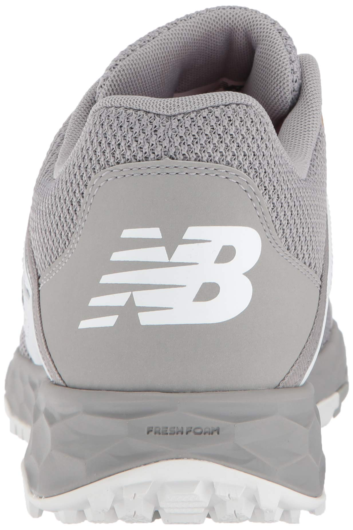 New Balance Men's 3000v4 Turf Baseball Shoe, Grey/White, 5 D US by New Balance (Image #2)