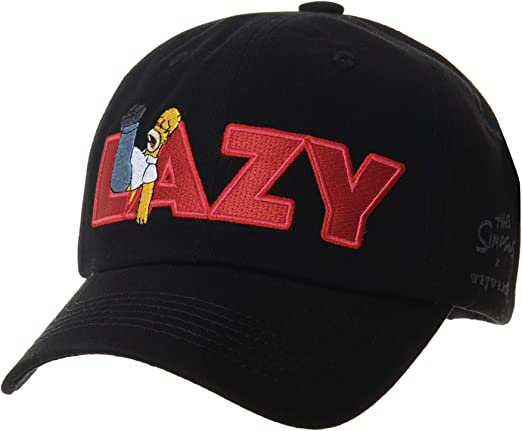 Licensed Unisex Mens The Simpsons Lazy Homer Simpson Baseball Cap Trucker Hats