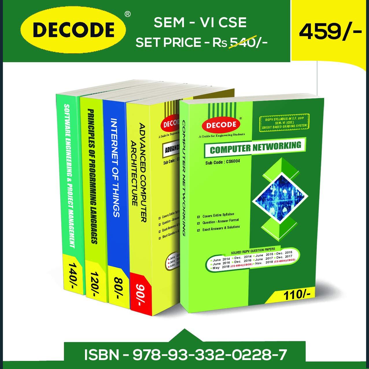 Buy DECODE SEM-VI CSE For RGPV 2018 Syllabus Book Online at Low
