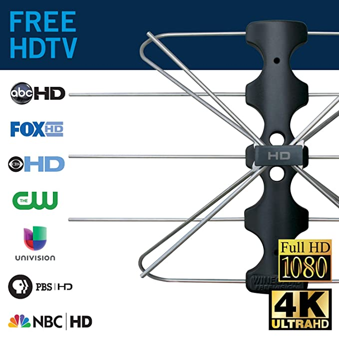 38a912a36c680b Amazon.com  Winegard FreeVision FV-30BB Indoor and Outdoor Digital HDTV  Antenna (4K Ultra-HD Ready