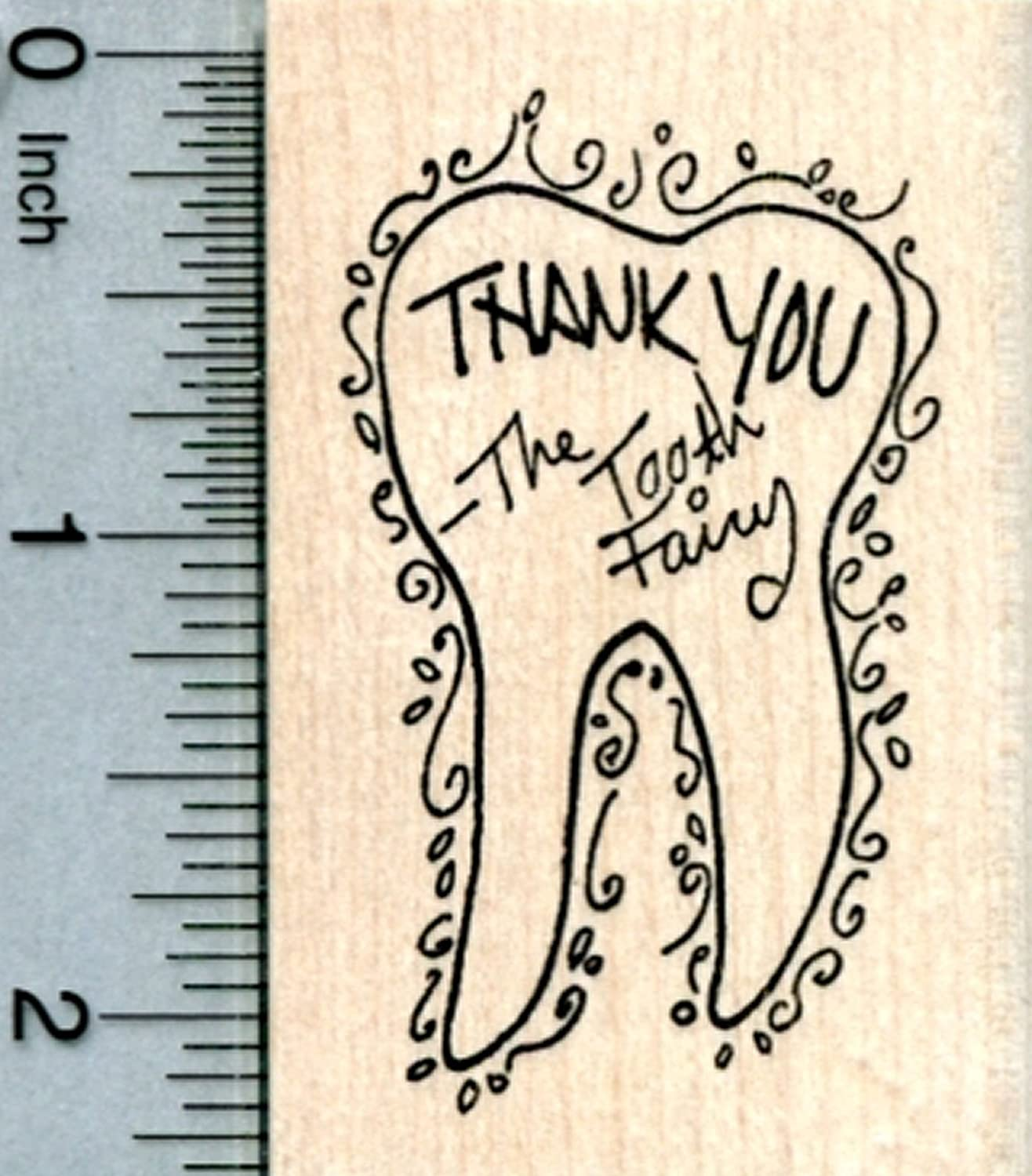 Tooth Fairy Thank You Rubber Stamp