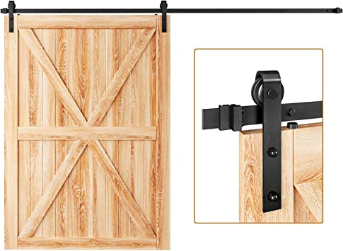 Amazon Com Easelife 10 Ft Heavy Duty Sliding Barn Door Hardware Track Kit Ultra Hard Sturdy Slide Smoothly Quietly Easy Install Fit Up To 60 Wide Door 10 Ft Track Single Door Kit Home Improvement