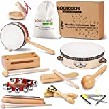 LOOIKOOS Toddler Musical Instruments Natural Wooden Percussion Instruments Toy for Kids Preschool Educational, Musical Toys S