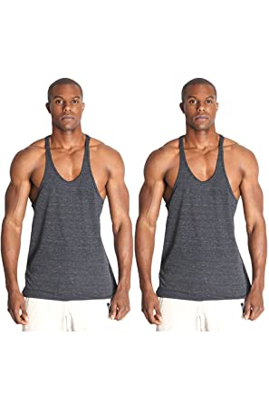 ee6aca80e9a435 Pitbull Gym Men s Triblend Fitness Stringer Y Back Tank Top For Body  Building Weight Lifting Workouts