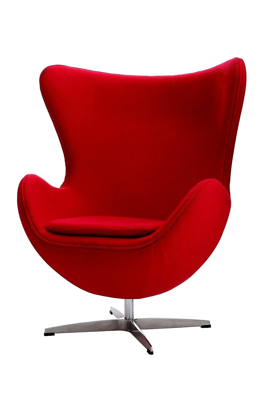 Premier Housewares Drehbare Jubilee Stuhl–108x 82x 76cm Wohnzimmer-Möbel Rot