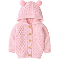 oneflow Baby Girl Boy Winter Clothes Toddler Knitted Coat Jacket Hooded Sweater Warm Outfit