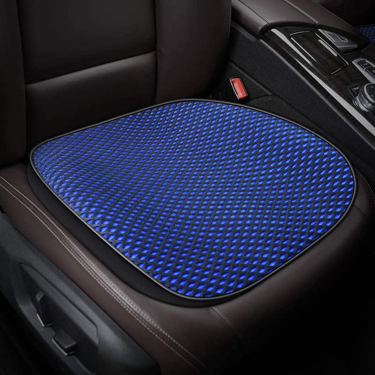 Eaglet Cooling Car Seat Cushion, Multi-Use Universal Seat Cushion with Breathable 3D Stereo Mesh Cover, Cooling Gel, Anti-Slip Backing, Ice Pad for Support in Car, Office, Home, and Outdoor (Blue)