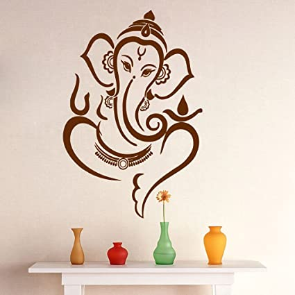 7c657f1e3d6 Buy Asmi Collections Wall Stickers Beautiful Brown God Ganesha Online at Low  Prices in India - Amazon.in